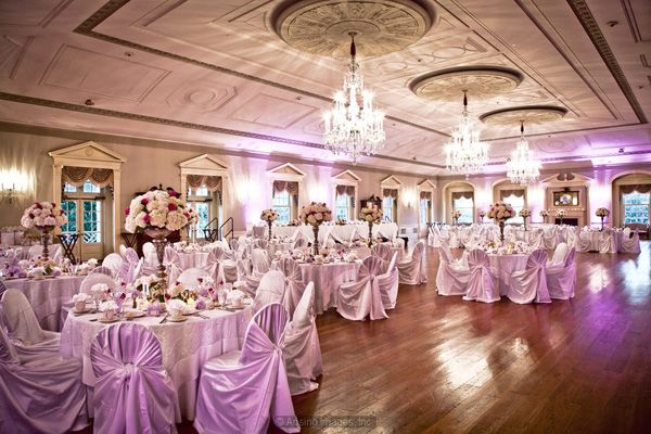 Lovett Hall decorated for a wedding that will surely be remembered.