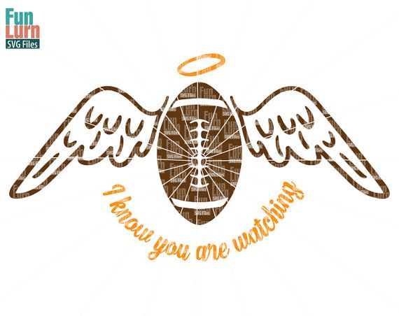Football wings SVG I know you are watching SVG in by FunLurnSVG