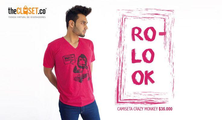 Aprovecha este súper precio sólo en nuestra tienda online Rolo-ok Camisetas #RedDeDiseñadores