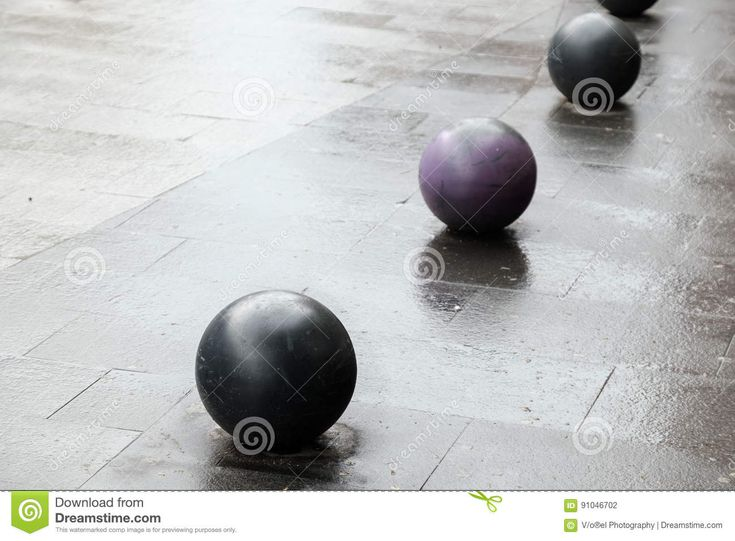 Balls On The Pavement. - Download From Over 58 Million High Quality Stock Photos, Images, Vectors. Sign up for FREE today. Image: 91046702