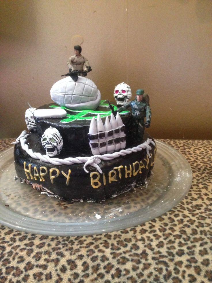 Lops birthday cake 14 th call of duty lol Again group effort