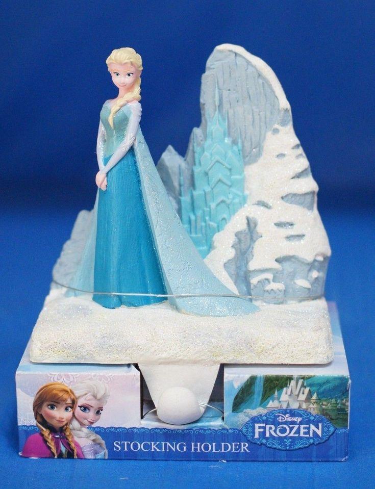 Disney Frozen Snow Queen Elsa Mantel Christmas Stocking Holder New | eBay