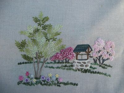 Hayfield Cottage: Katrina's Cottage and An Embroidery