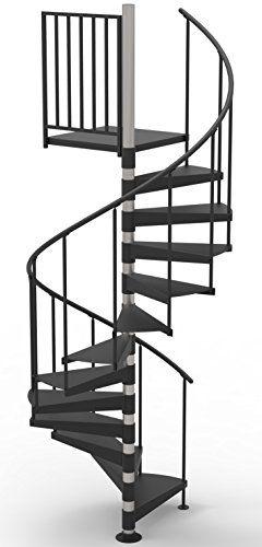 Best 42 Diameter Non Code Spiral Stair Kit Primed Steel 85 400 x 300