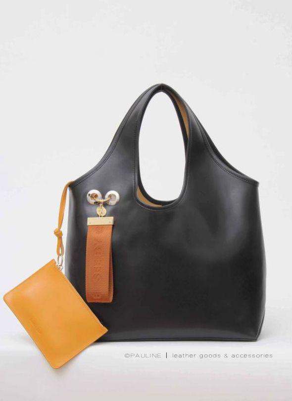 New See By Chloé style  the Jay shopper in delicate black and detachable  pouch 4edac87978984