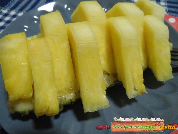 Ananas al forno con limoncello  #ricette #food #recipes