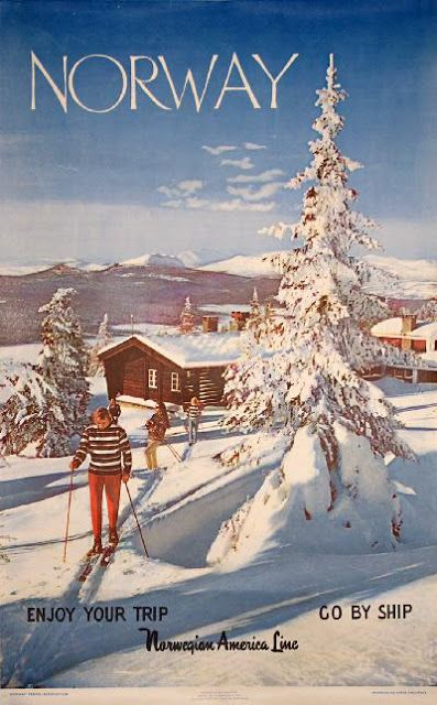 Reggie Darling: Reggie's (Not) Holiday Sweater Norway vintage travel poster Go By Ship