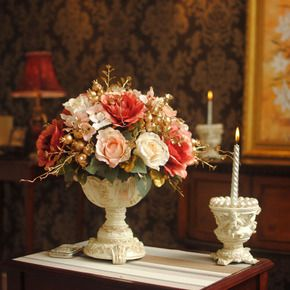 Влюбленные в Париже G Continental Пномпене розы ваза поддельные цветы засушенные цветы искусственные цветы шелк цветок цветочные украшения - Taobao глобальной станция
