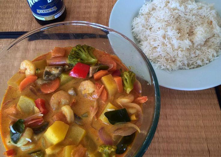 Am Samstag gab es Thai Curry à la Frau Quak. Frau Quak kochte und es schmeckte…