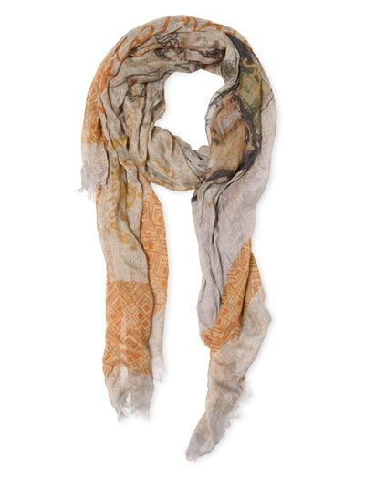 CORTO MALTESE - PRINTED WRINKLED CASHMERE BLEND  SCARF