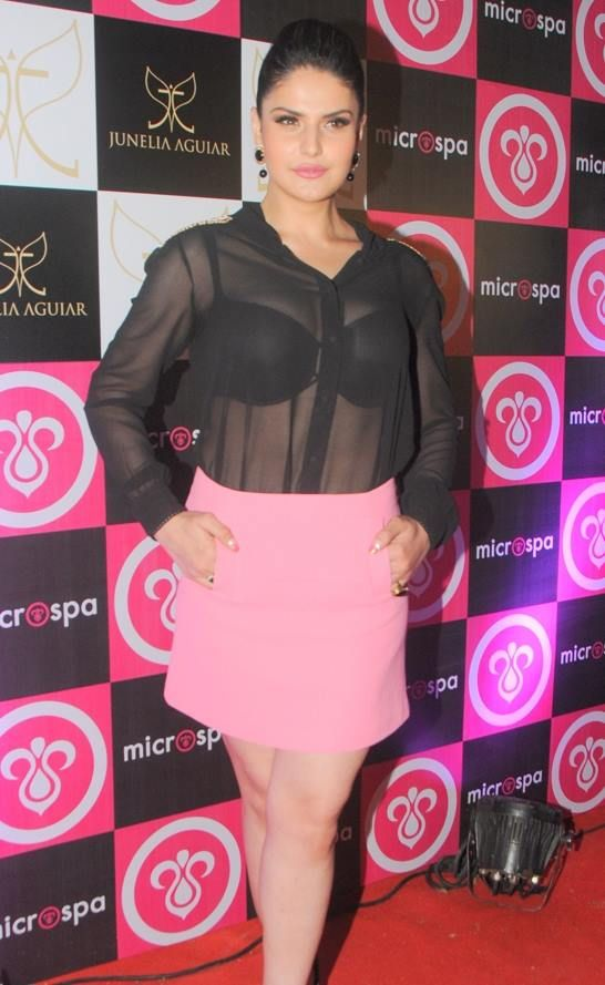 Zarine Khan spotted in a see through dress at an event!  Hot or Not??