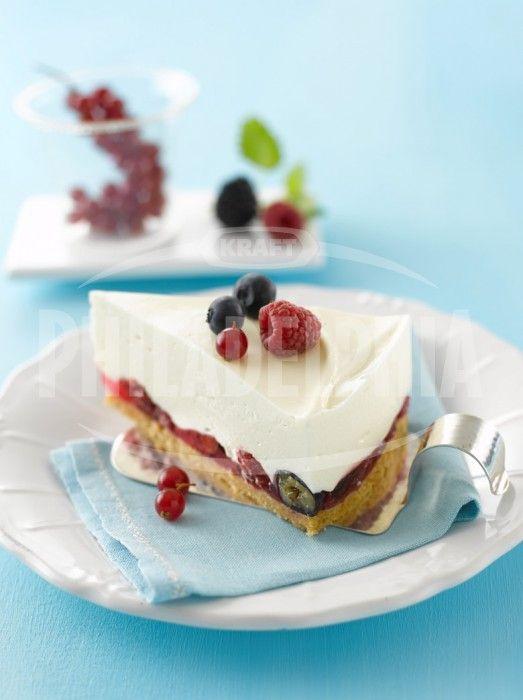 Krémový dort s lesním ovocem - Dezerty - recepty - Sýr Philadelphia
