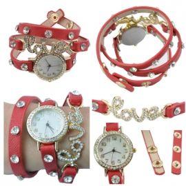 Horloge Love Rood