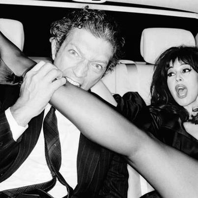 Vincent Cassel and Monica Belucci, LOL, I love these two! <3