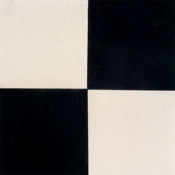 ~ Quatre Carrés ~ Kasimir Malevich #art #malevitch #damier #back_white