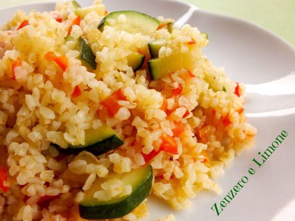 BULGUR alle VERDURE | ricetta vegana