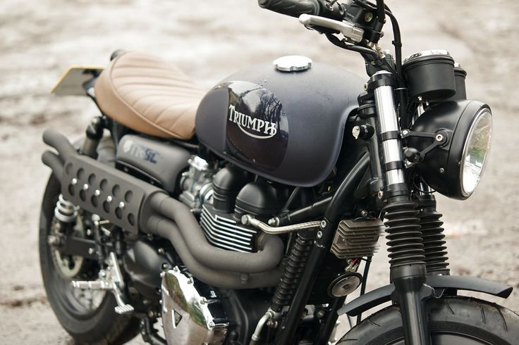 "Most bike builders rhapsodize about their creations. Kev Taggart describes his Triumph Bonneville T100 as ""Small, squat, and tough as old boots."""