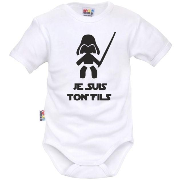 Body bébé geek je suis ton FILS - Bodies bébé originaux - SiMedio