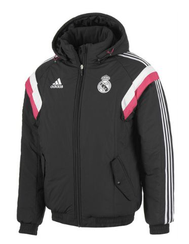 Real Madrid Training Padded Jacket - Black Real Madrid Official Merchandise Available at www.itsmatchday.com