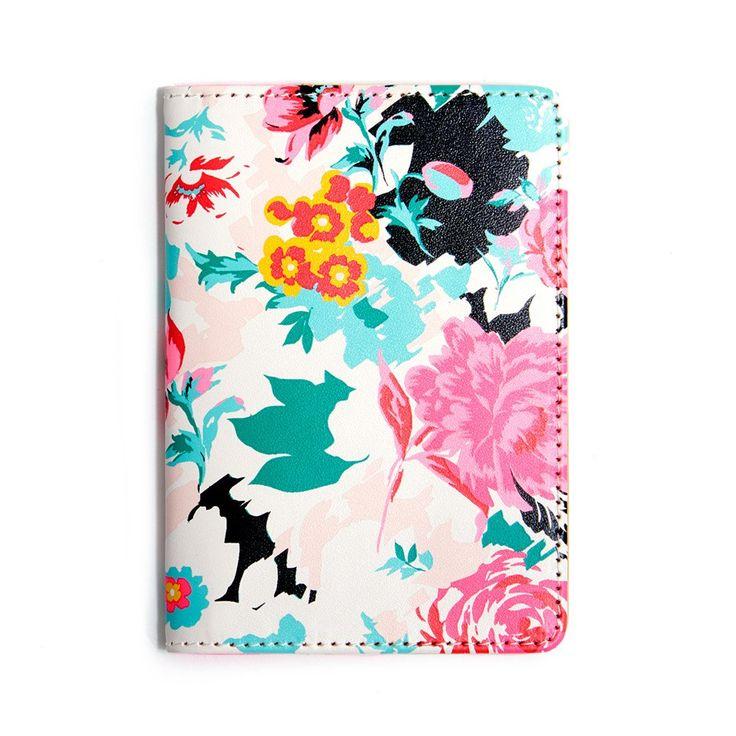 the getaway passport holder - florabunda #adroll #all-products #fall-15 #flora-bunda #floral #floribunda #flowers…