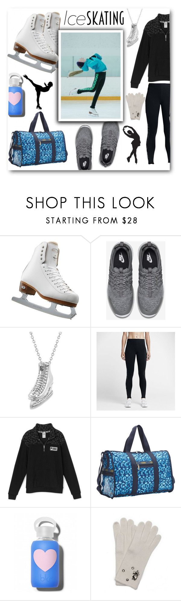 """Figure Skating Training Wear"" by voguefashion101 ❤ liked on Polyvore featuring Riedell, NIKE, Allurez, LeSportsac, bkr and Wyatt"
