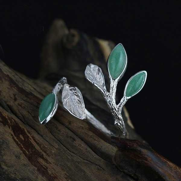 Spring Leaves Silver Ring @ Fig & Wattle