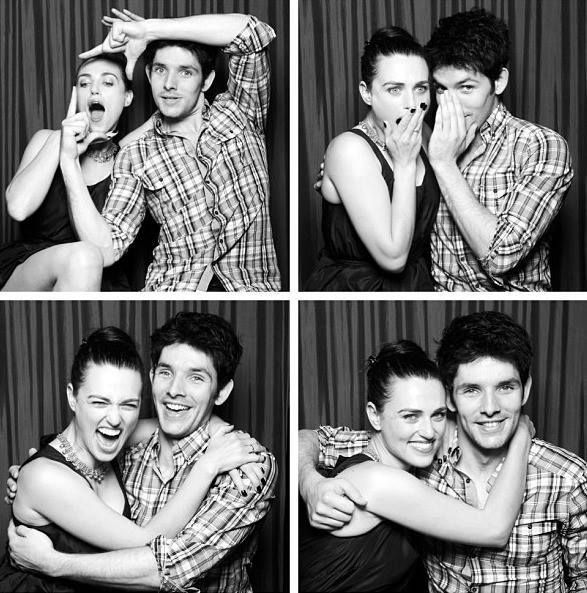 Katie McGrath and Colin Morgan. Enemies on screen, best friends off