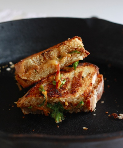 Grilled Cheese Sandwich with Tomato Onion Jam and Arugula - from Heo ...
