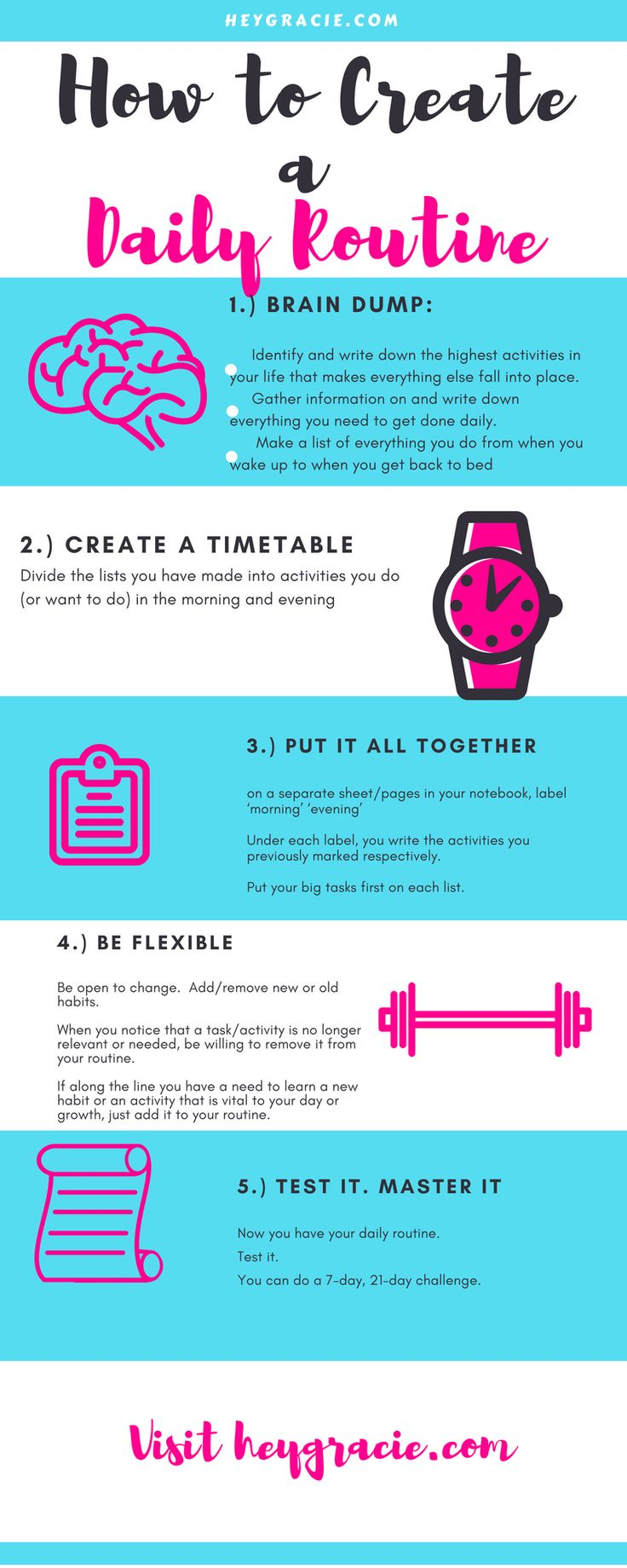 5 Easy Ways To Create a Daily Routine- Self-improvement