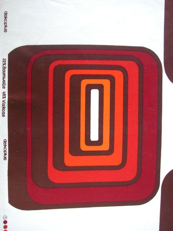 FABRIC original 1970s / retro vintage / DEKOPLUS / geometric graphic design panton age on Etsy, $33.92 AUD