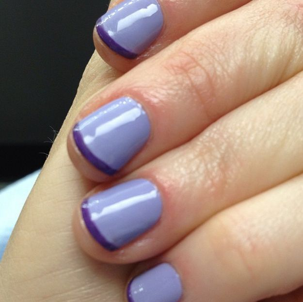 Nail Art Games For Girls Top Star Manicure Salon By Milos: Best 25+ Purple French Manicure Ideas Only On Pinterest