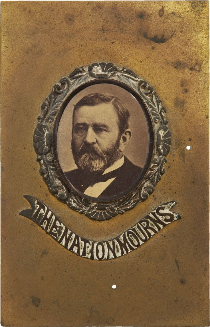17 best images about president ulysses s grant the memorial card the nation mourns ulysses