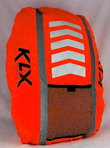 8ea338b58e KLX Heavy Duty High Visibility Reflective Waterproof Rucksack Backpack Cover  - New Improved (Orange)
