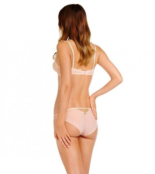 Heid Klum Intimates lingerie model Bise BH en slip in roze