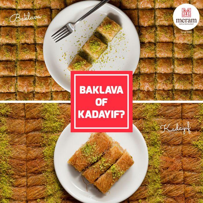 Baklava vs Kadayif