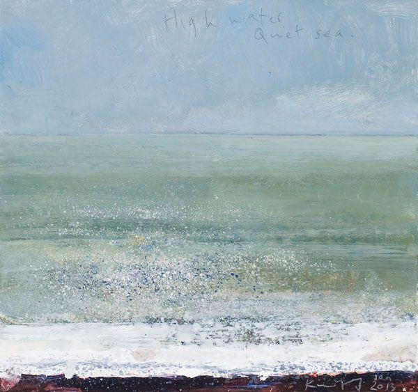 Kurt Jackson: High water, quiet sea January 2013 Campden Gallery, fine art, Chipping Campden, camden gallery, contemporary, contemporary art...