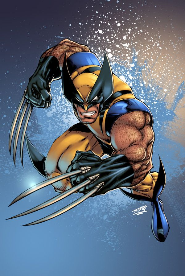 Wolverine pencils by Joe Madureira, inks by Tim Townsend