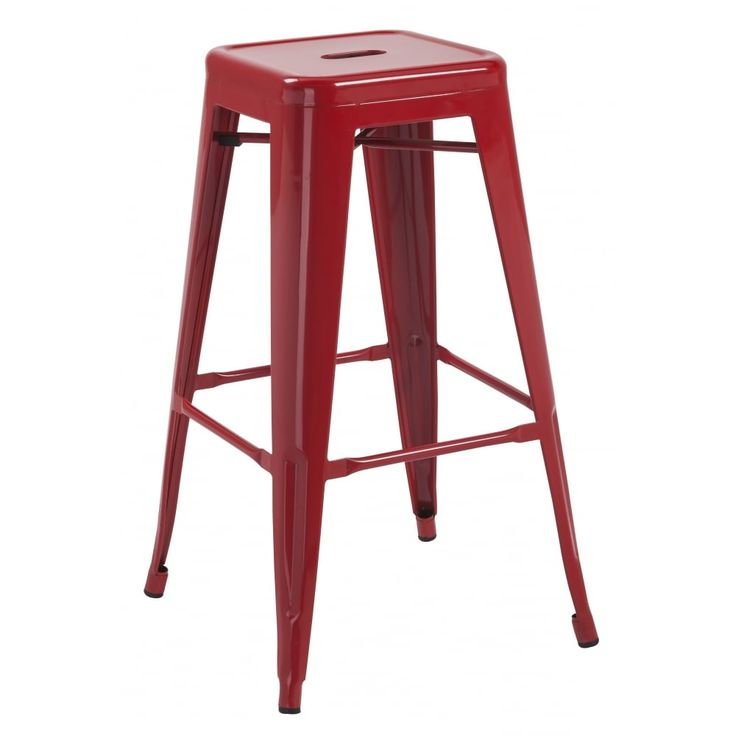 Awesome Red Metal Counter Stool