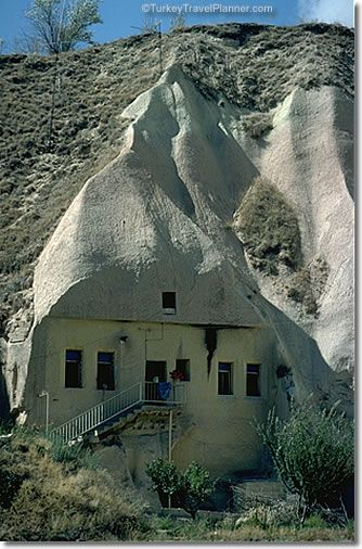 A Cappadocian cave dwelling in the town of Ürgüp not far from the famous Göreme Open-Air Museum.