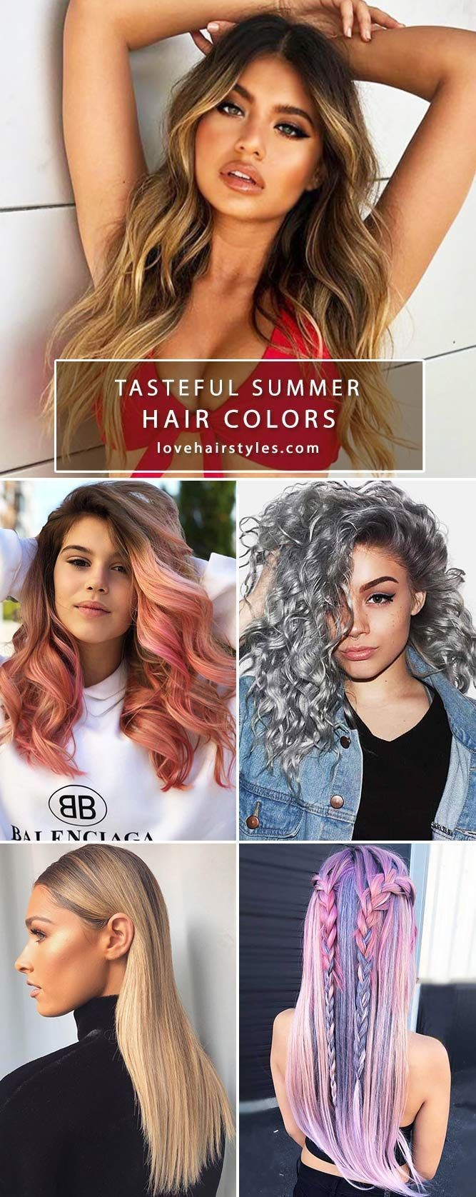Summer hair colors 2018 will work for every girl! Theres an idea for b Summer   …