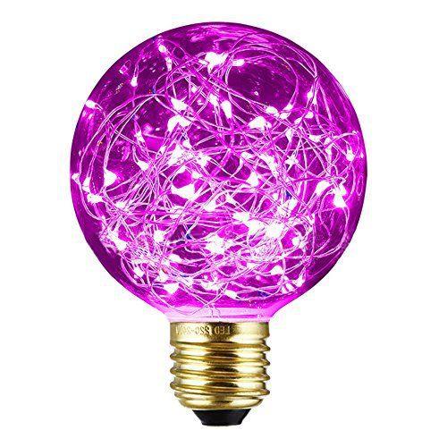 Ampoules Lampe décorative, xinrong New Edison LED Starry Sky fil de cuivre LED Base E27220V 1,6W économie d'énergie au style vintage…