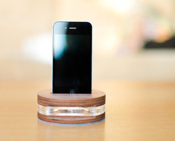 Eco Sound: Eco Friendly iPhone Amplifier, coming in various acrylic colours.