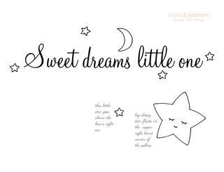 "FREE ""Sweet dreams, little one"" pattern via Nana Company. Follow link and click download."