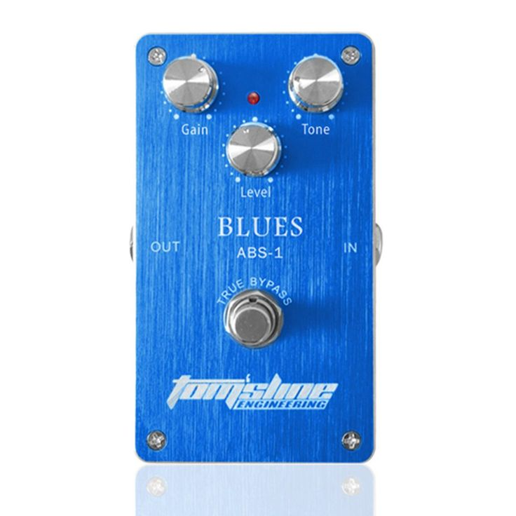 Aroma ABS-1 Blues Distortion True Bypass Electric Guitar Effect Pedal with Aluminum Alloy Housing. Built-in FET transistor and tube distortion simulation. High gain distortion, low power consumption. True bypass design, minimize tone loss and get more control of your pedal. 3 adjustable knobs: Gain, Tone, Level. Aluminum alloy housing, sturdy and durable.