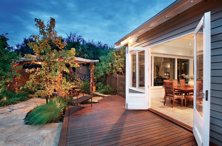 Outdoor decking, indoor-outdoor living,  Constructed by Classic Projects