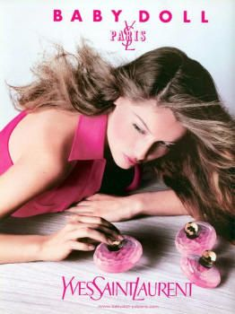 Baby Doll by Yves Saint Laurent with Laetitia Casta (1999).
