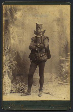 Auckland Amateur Theatricals [man in costume]