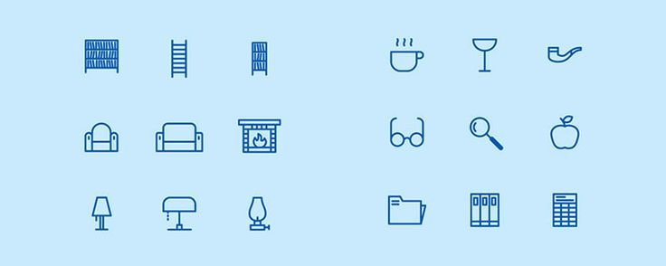 Home & Public Library Icons