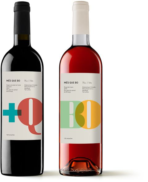Packaging Més que Bo  Wine label design for a limited production wine from a vineyard in Gandesa, la Terra Alta (Catalonia)