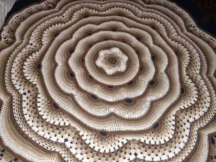 Belíssimo Tapete de crochê para Sala, modelo 3D, Maravilhoso!